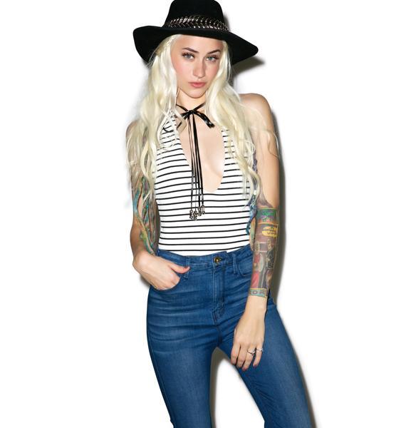 Bolo Babe Striped Bodysuit