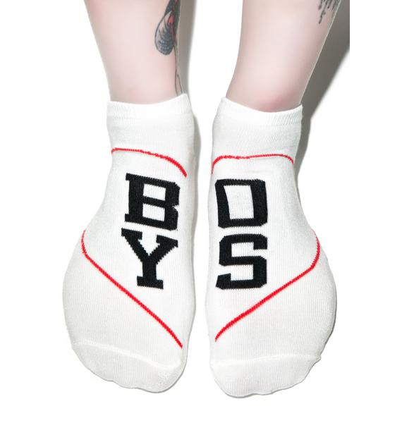 Boy Crazy Ankle Socks