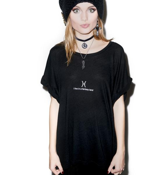 Wildfox Couture Pisces Astrology Boy Tee