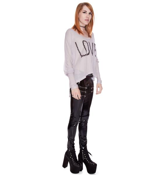 Love By Skull Long Sleeve Tee