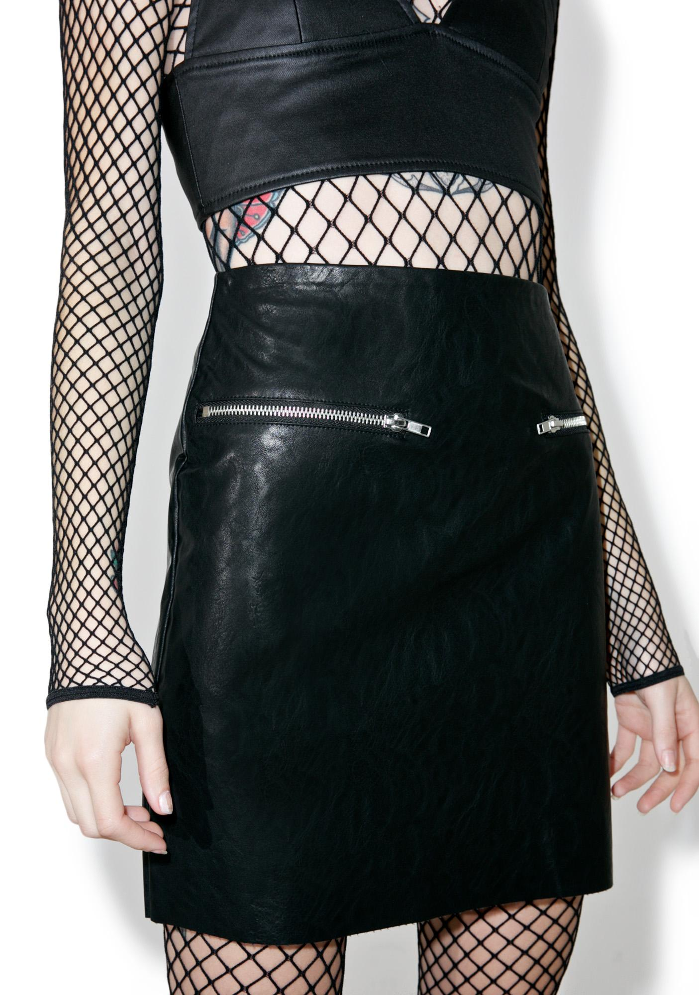 Glamorous Animus Zippered Skirt