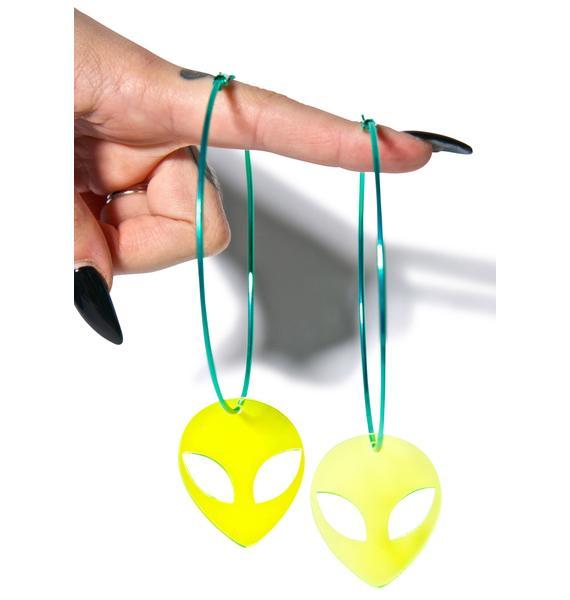 Suzywan Deluxe Alien Hoop Earrings