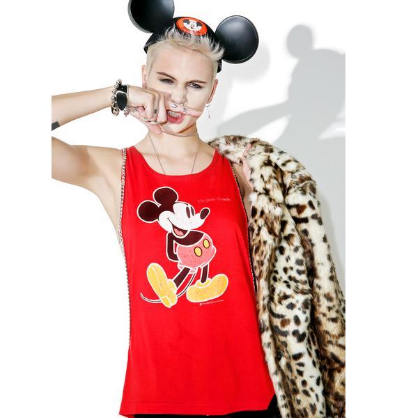 Hazmat Design Vintage Deadstock Open Side Mickey Mouse Tank
