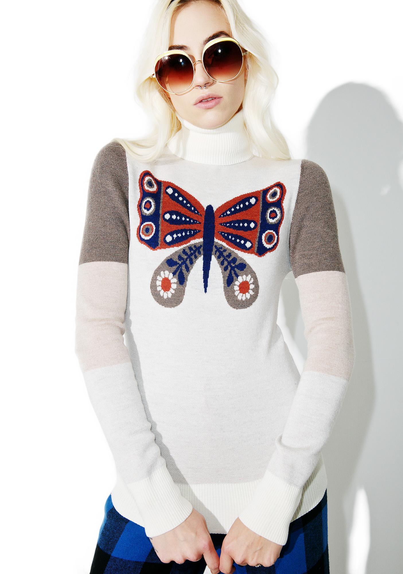 Sugarhigh + Lovestoned Mariposa Turtleneck