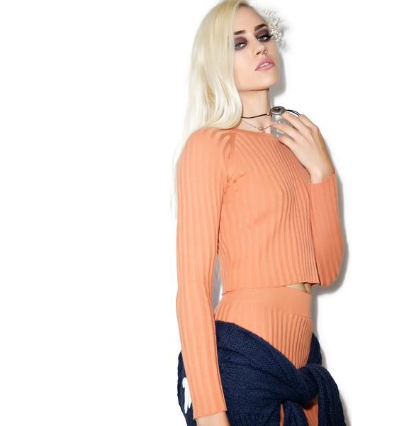 For Love & Lemons Back to Basics Cropped Sweater