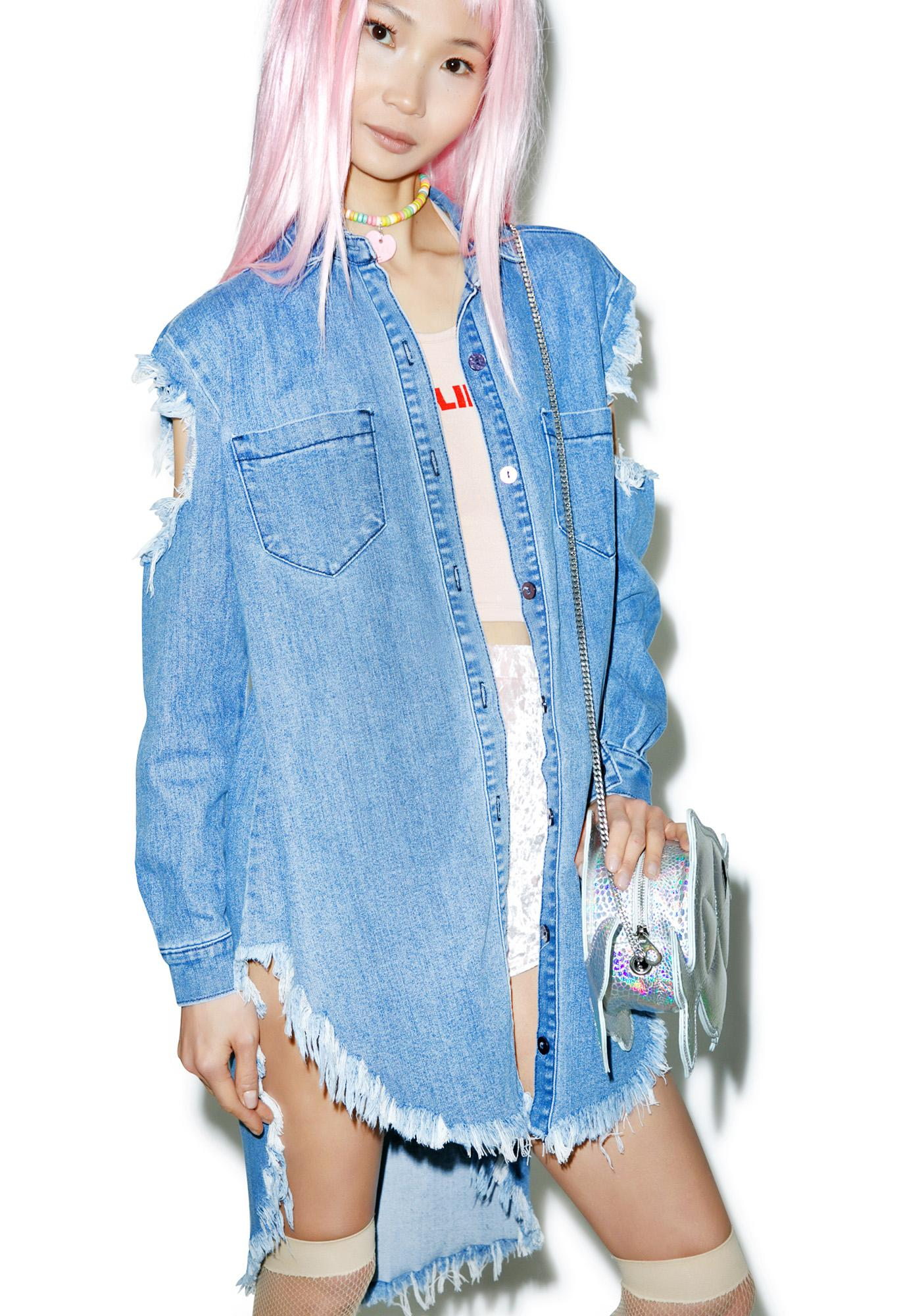 Tattered Denim Shirt
