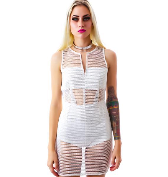 Censored Mesh Dress