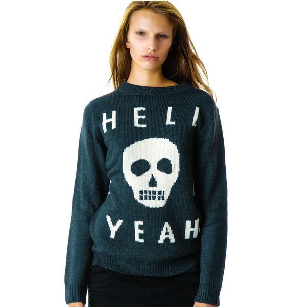 Glamour Kills Skull Yeah Knit Sweater