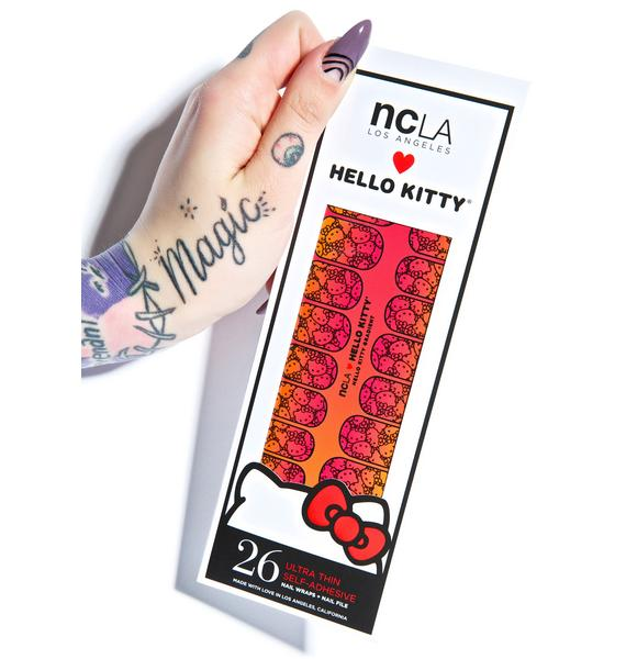 NCLA Hello Kitty Gradient Nail Wraps