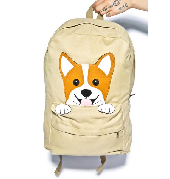 Happy Corgi Backpack