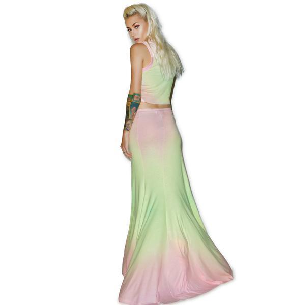 Wildfox Couture Rainbow Brite Maxi Verona Skirt