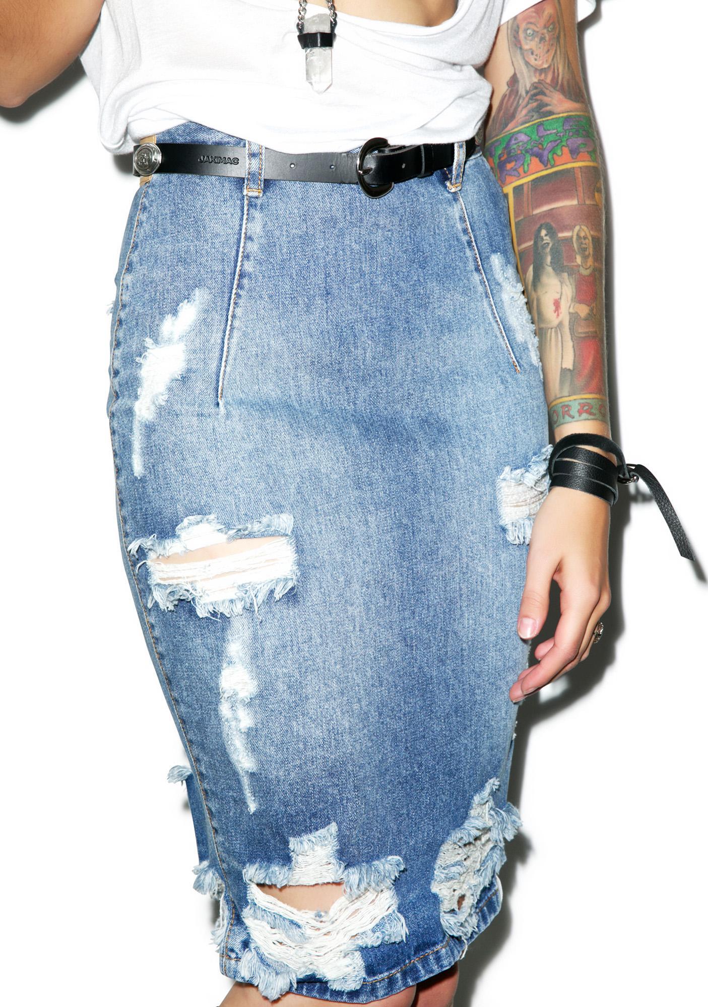 One Teaspoon Ford Freelove Denim Skirt