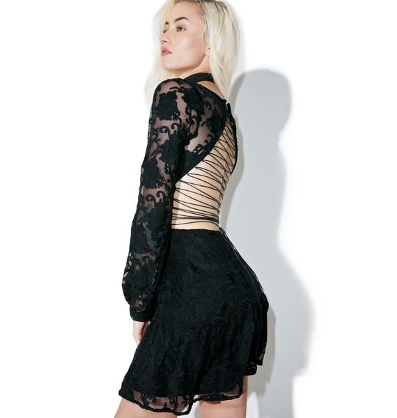 For Love & Lemons Jolene Lace-Up Dress