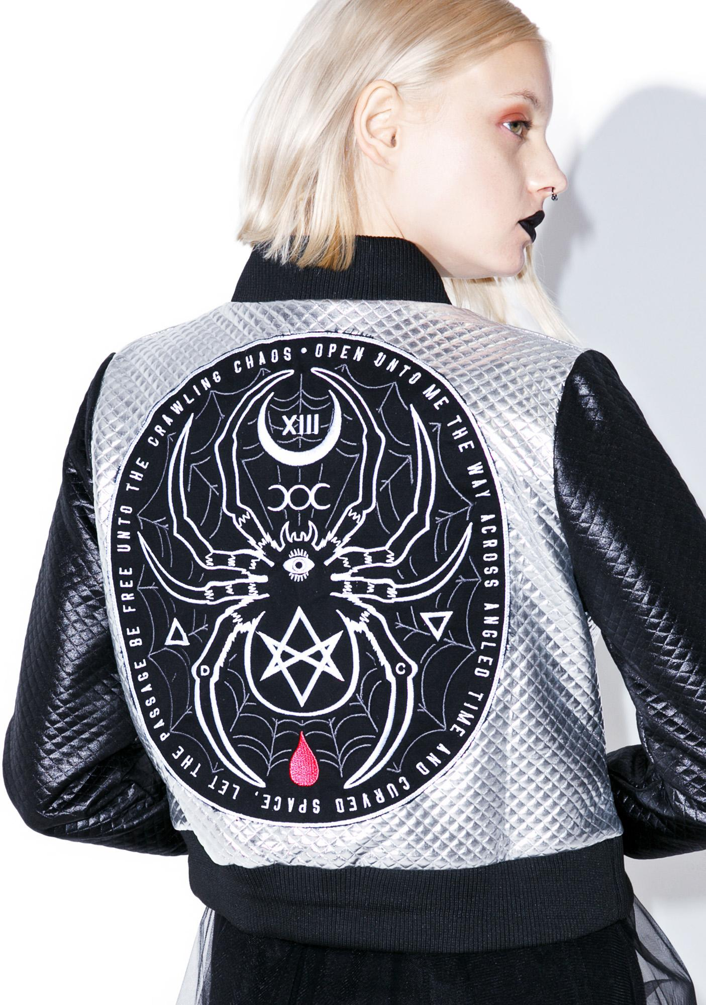Disturbia Black Widow Bomber Jacket