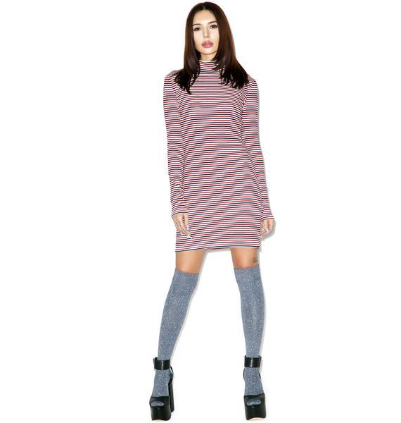 Mink Pink Stripe Skivy Dress