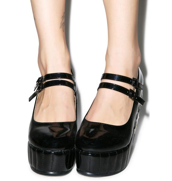 T.U.K. Black Star Mary Jane Wedge