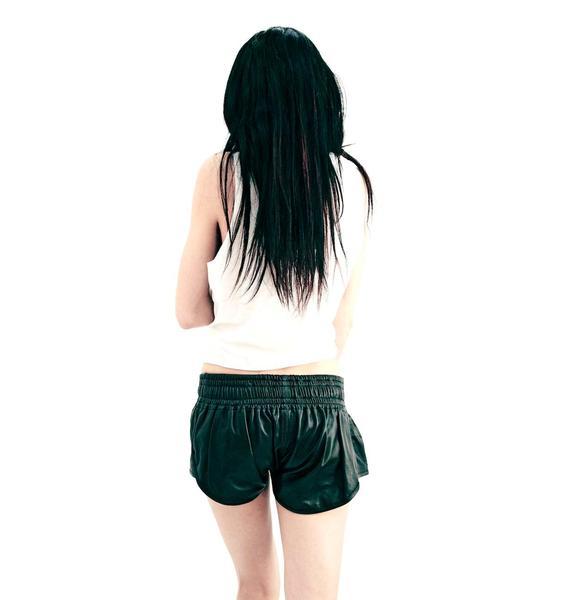 One Teaspoon Vagabond Leather Shorts