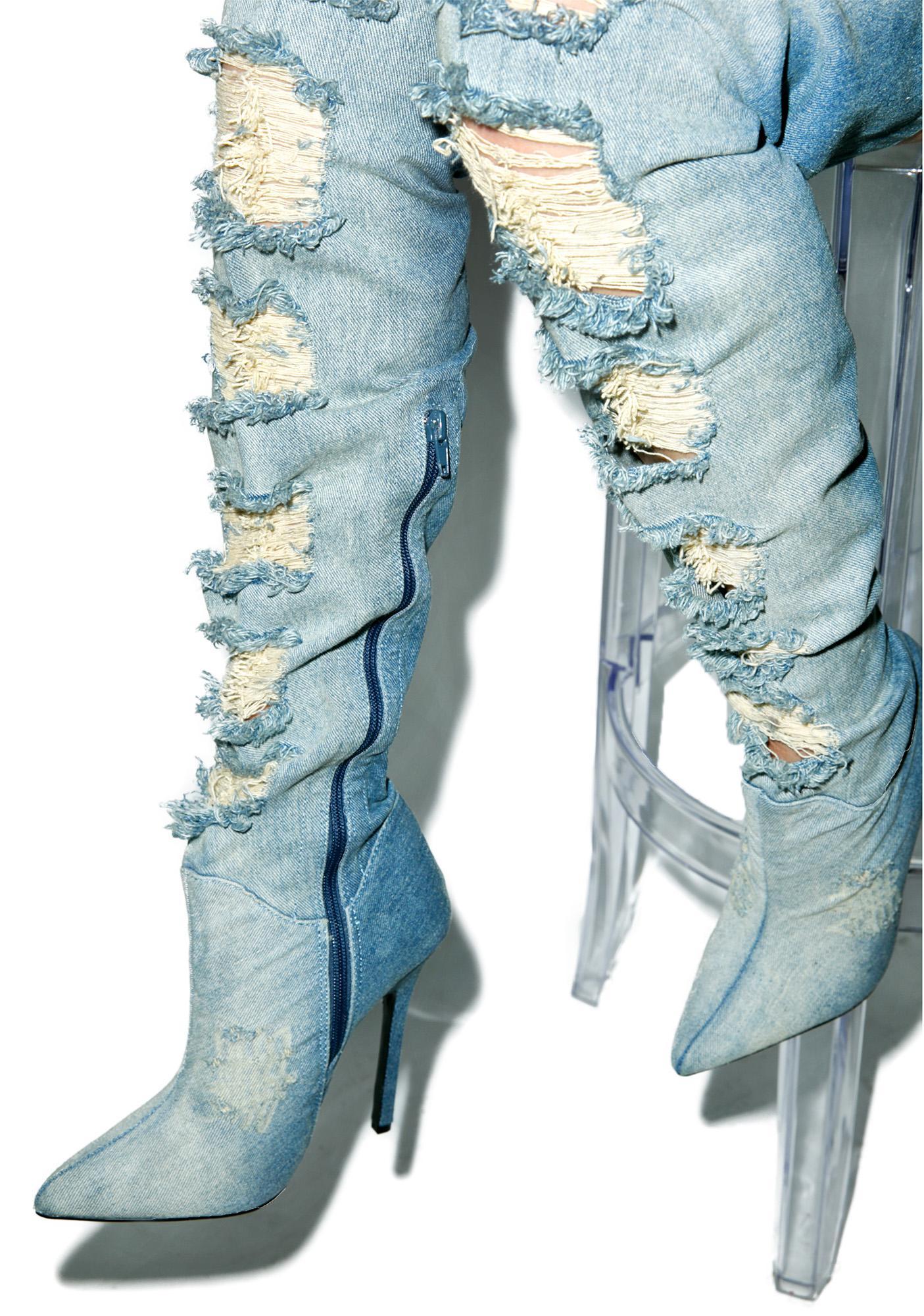 privileged matheson denim thigh high boots dolls kill