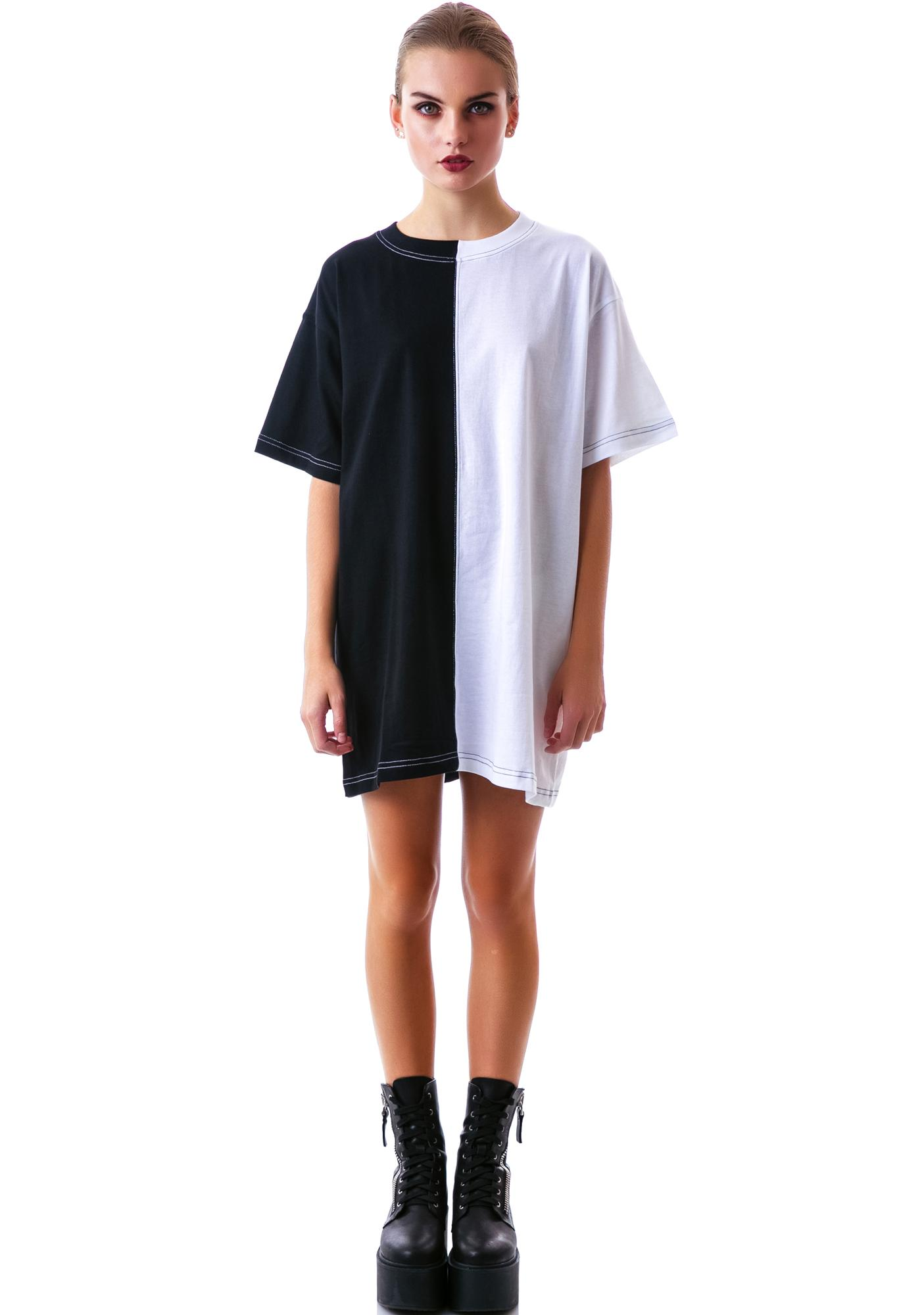 Long Clothing 2 Tone Oversized Tee