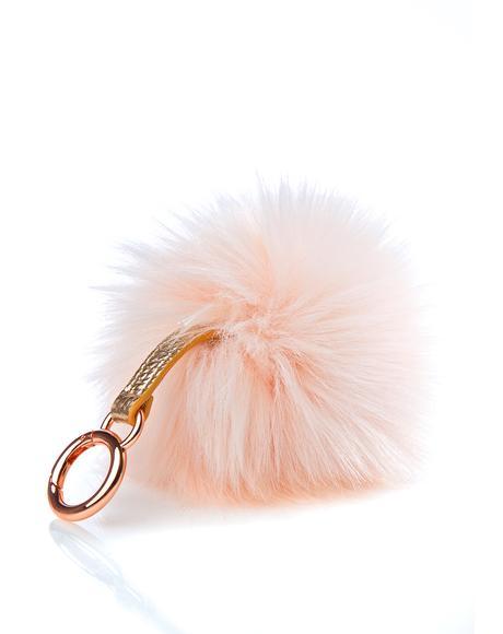 Candy Pom Pom Keychain