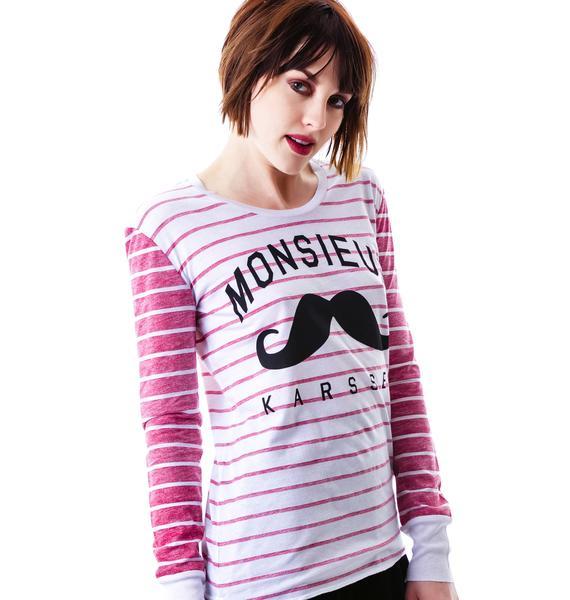Zoe Karssen Monsieur Karssen Loose Fit Long Sleeve Tee