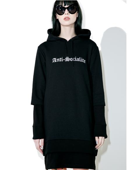 Anti-Socialite Hoodie Dress