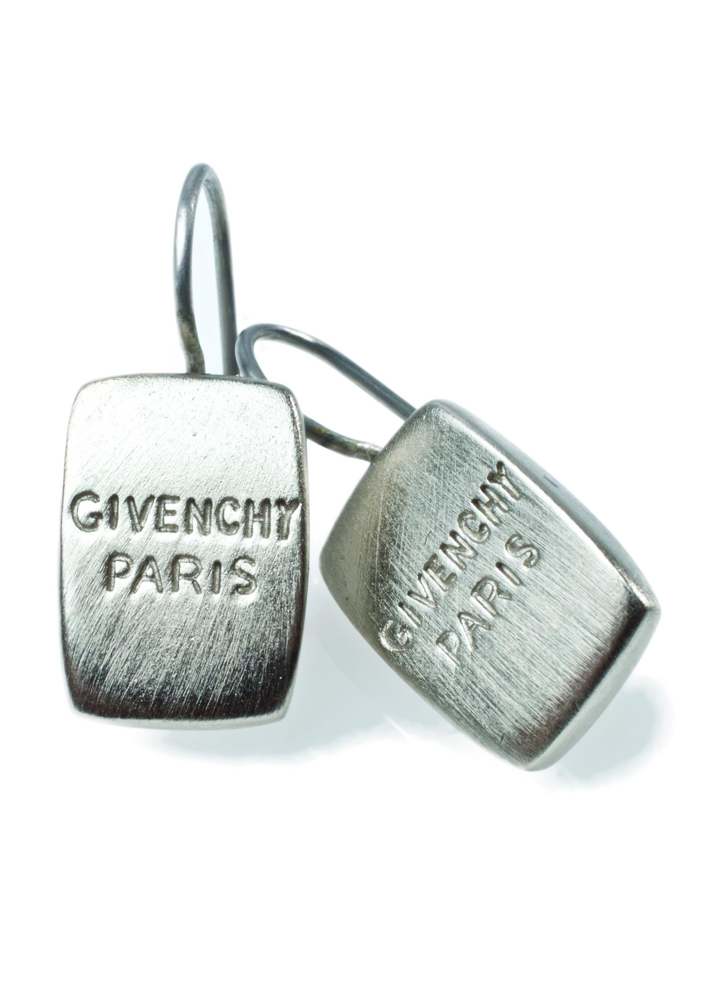 Givenchy Paris Logo Earrings