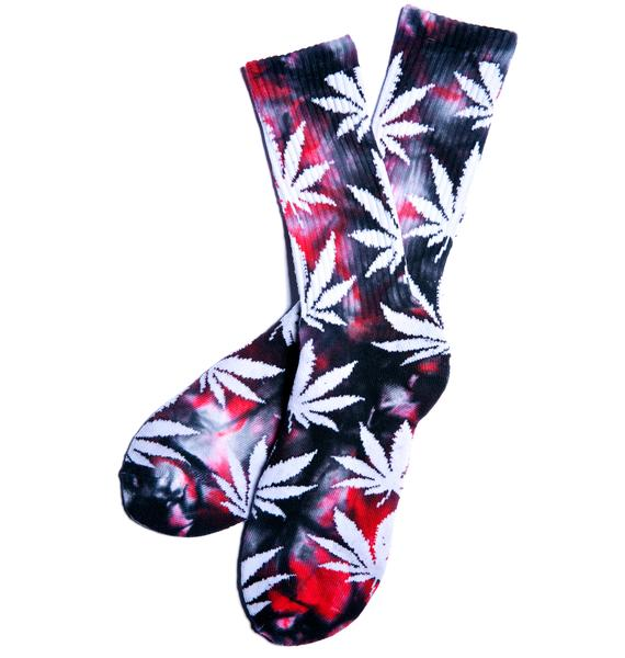 HUF Plantlife Blood Wash Crew Socks