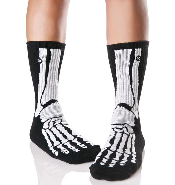 Odd Sox Skeleton Socks