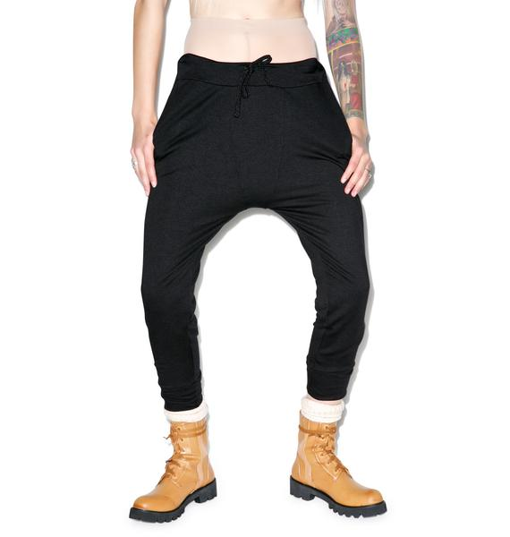 Benjamin Jay Rolling Blackout Drop-Crotch Sweats