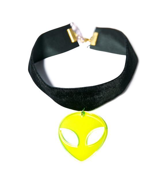 Suzywan Deluxe Velvet Alien Choker
