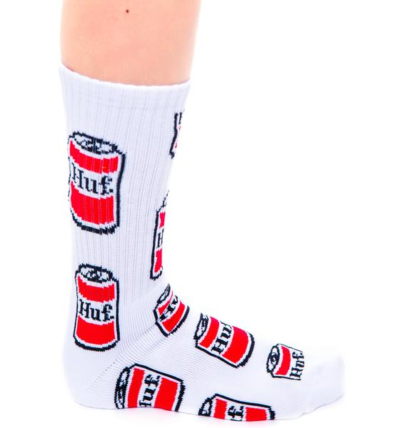 HUF Drink Up Crew Sock
