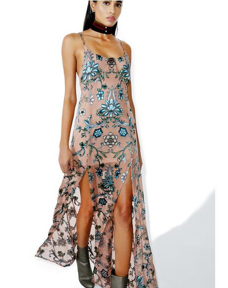 Saffron Sleeveless Maxi Dress