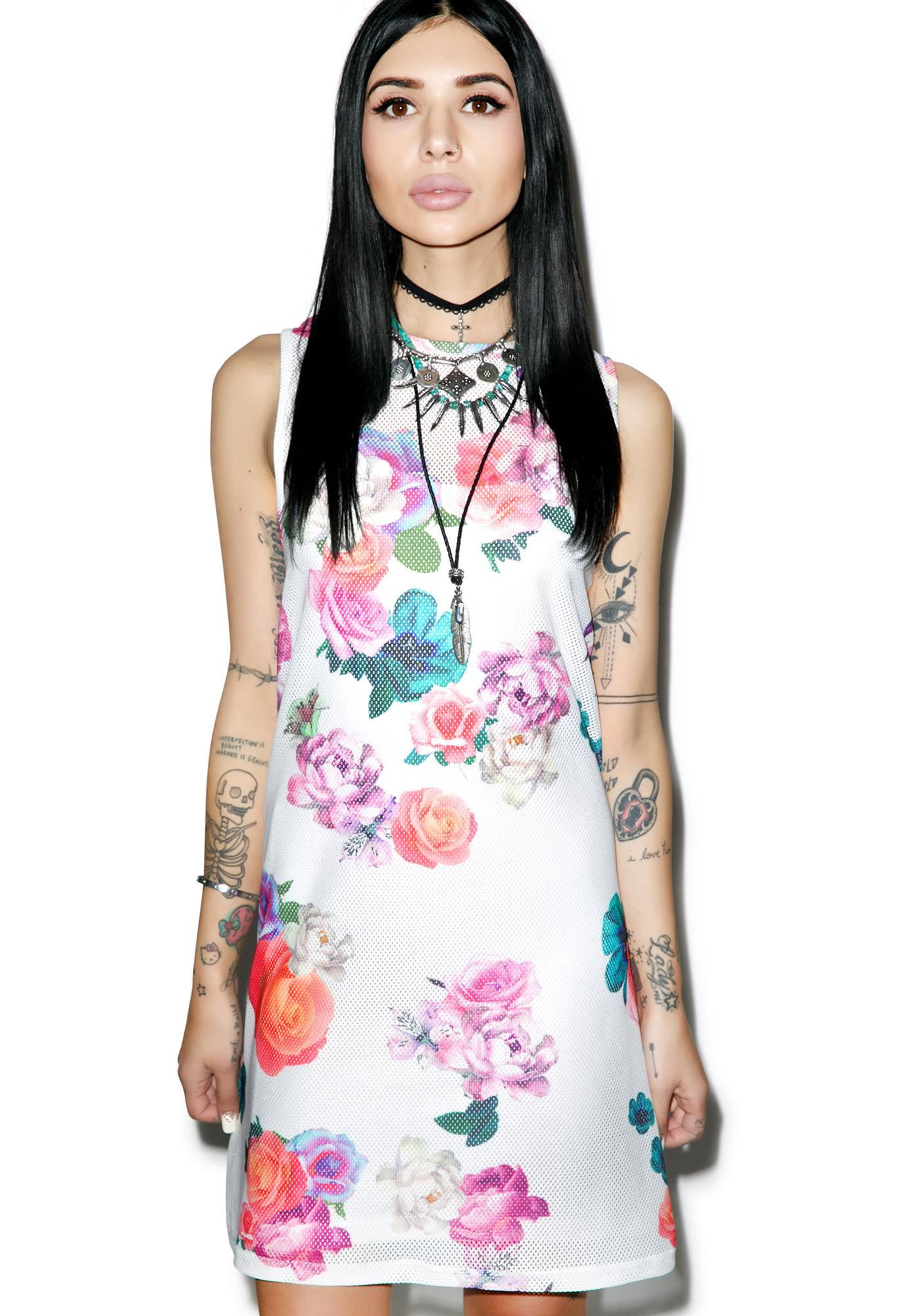 Mink Pink Neon Nature Tank Dress