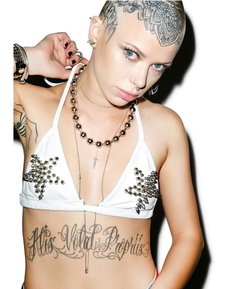 Motorpsycho Spiked Bra Top