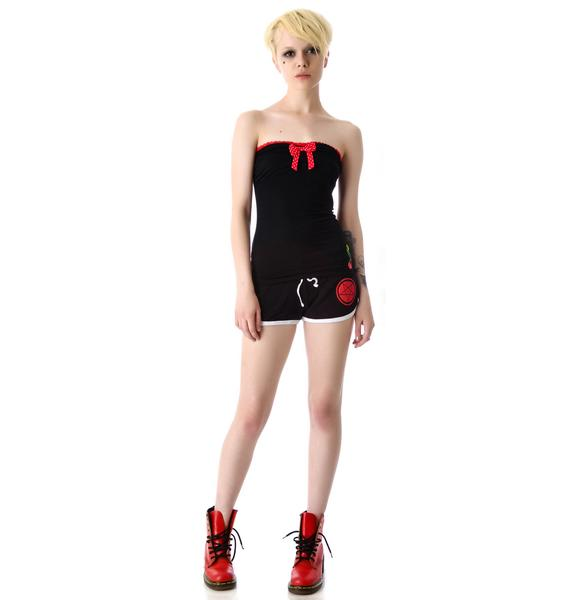 Sourpuss Clothing Cherry Bop Tube Top