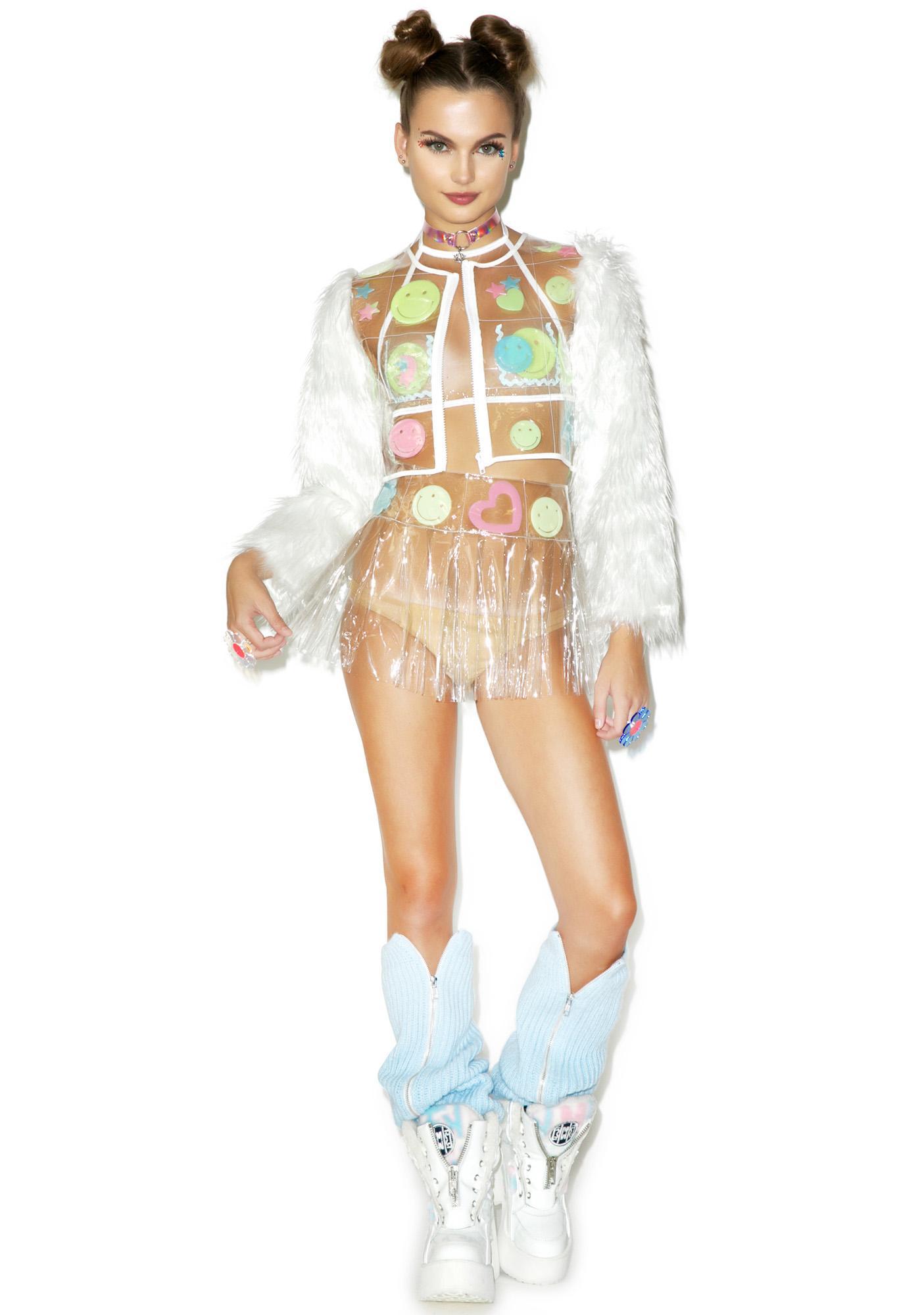 Indyanna Glowin' Spice Babe PVC Pleated Skirt