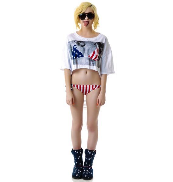 USA Shredded Bikini Shirt