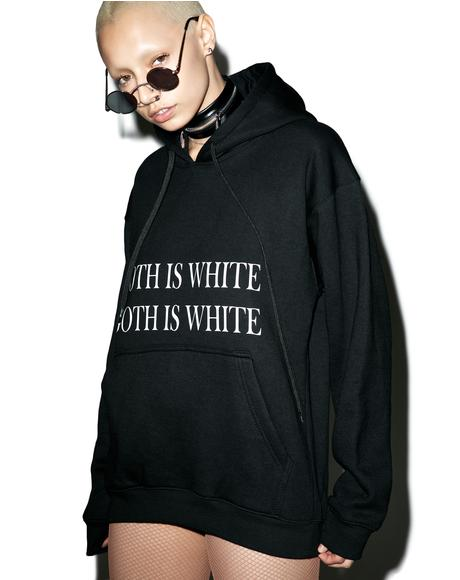 Goth Is White Hoodie