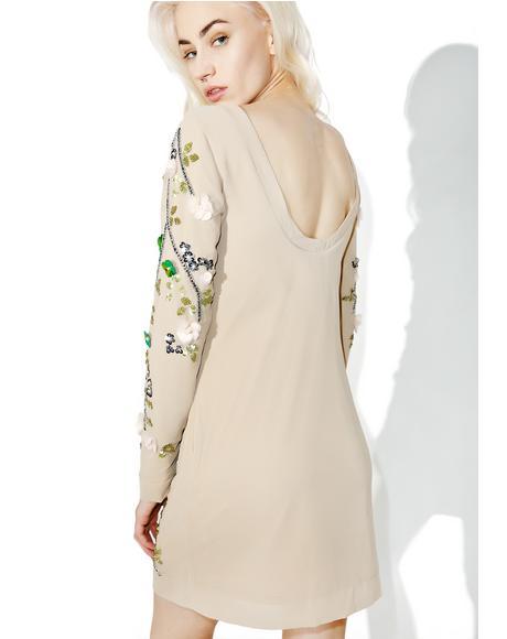 Cherry Blossom Bodycon Dress