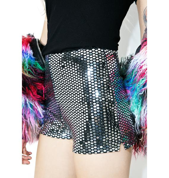 Not Goin' Home Sequin Shorts