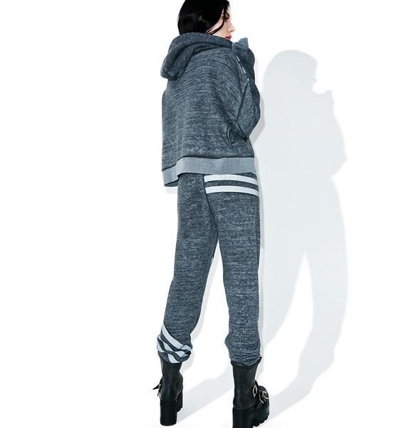 Wildfox Couture Tri-Stripe Burnout Fleece Bottoms