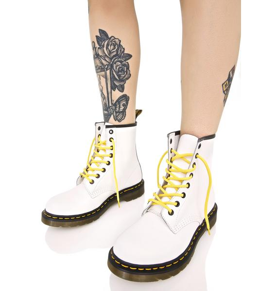 Dr. Martens White 1460 8 Eye Boots