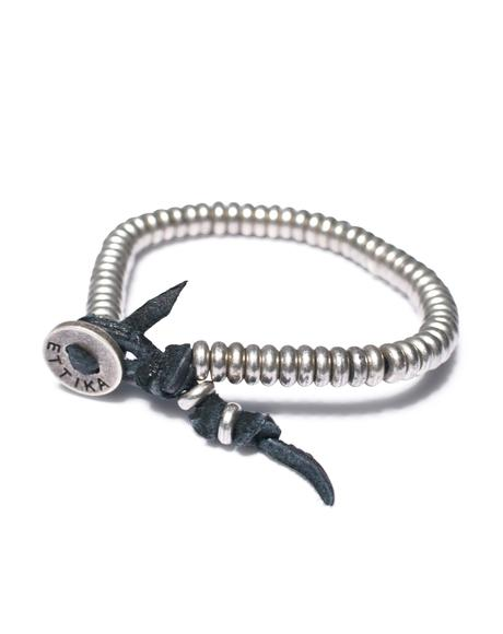Silver Nugget Deerskin Bracelet