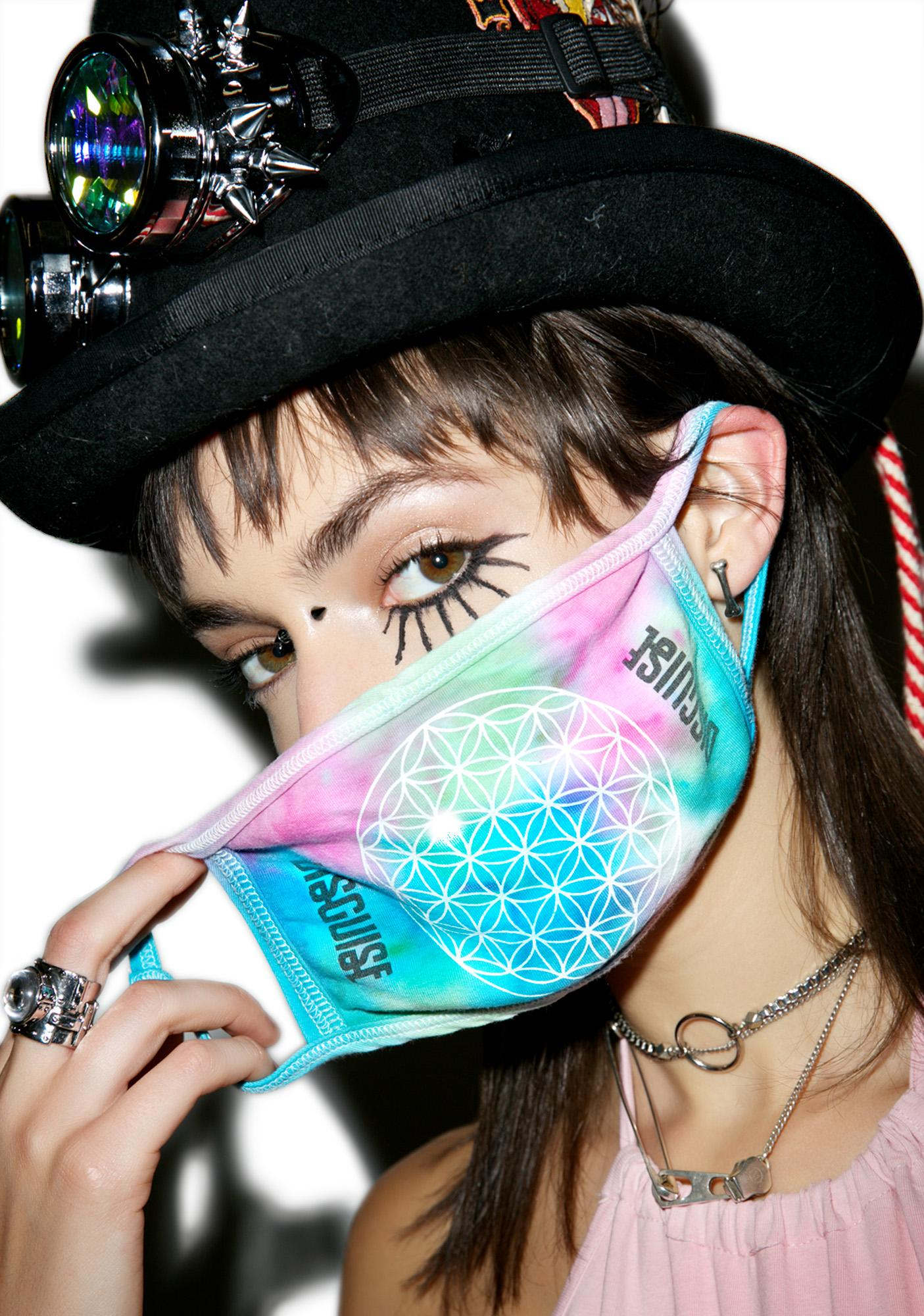 MeYouVersusLife X Dolls Kill x Disguise Flower Of Life Face Mask