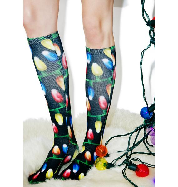 Bright Lights Knee Socks