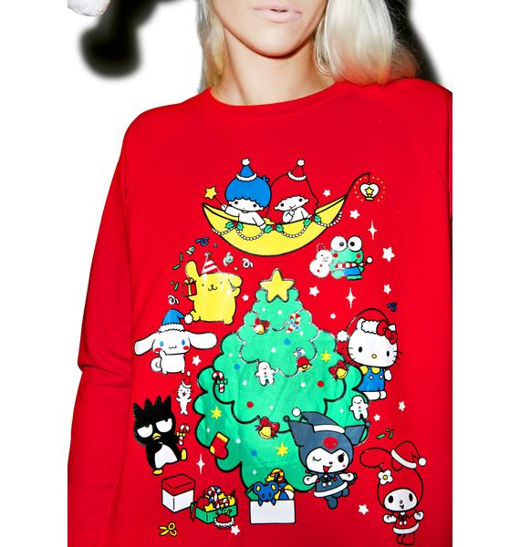 Japan L.A. Sanrio Holiday Sweatshirt