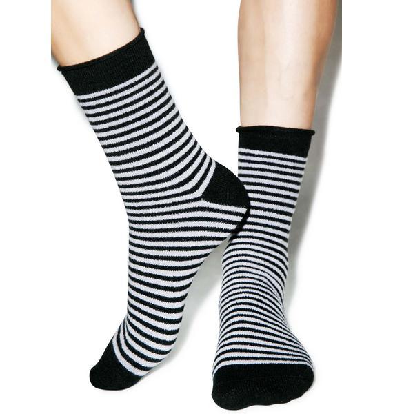 Plush Jail Break Fleece Socks