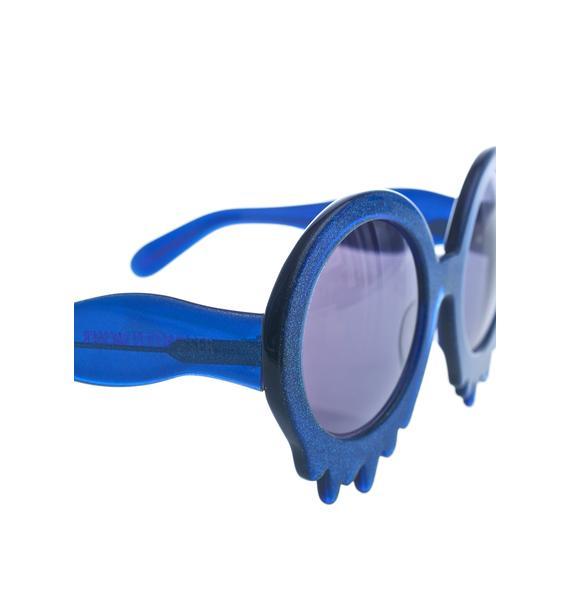 Hayley Elsaesser Blue Slime Time Sunglasses