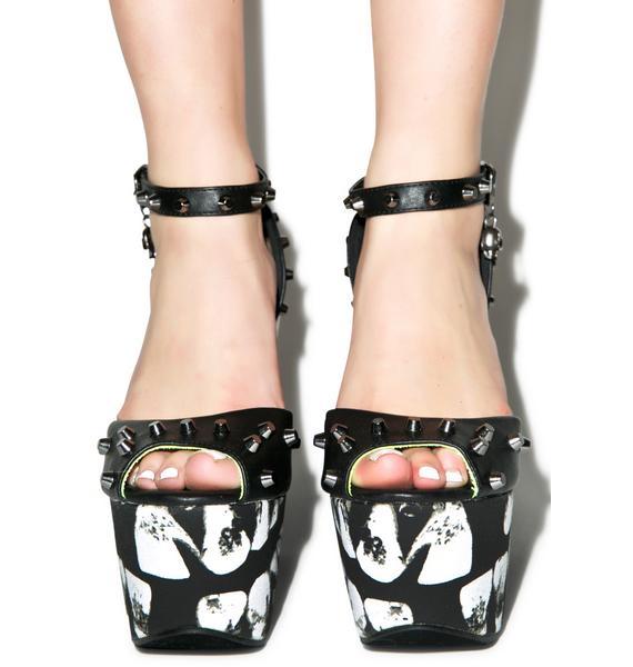 Iron Fist Loose Tooth Super Platform Heels